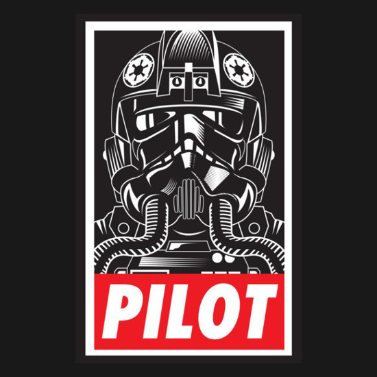 Obey TIE Fighter Pilot Star Wars T-Shirt