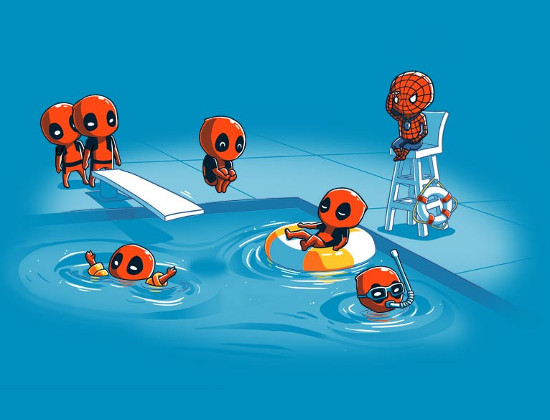 Deadpool Pool Party T-Shirt
