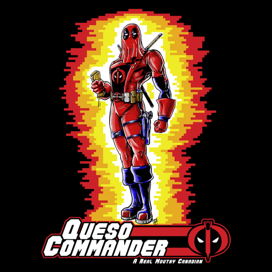 Queso Commander Deadpool Cobra GI Joe T-Shirt