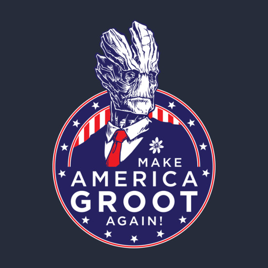 Groot for President Guardians of the Galaxy T-Shirt
