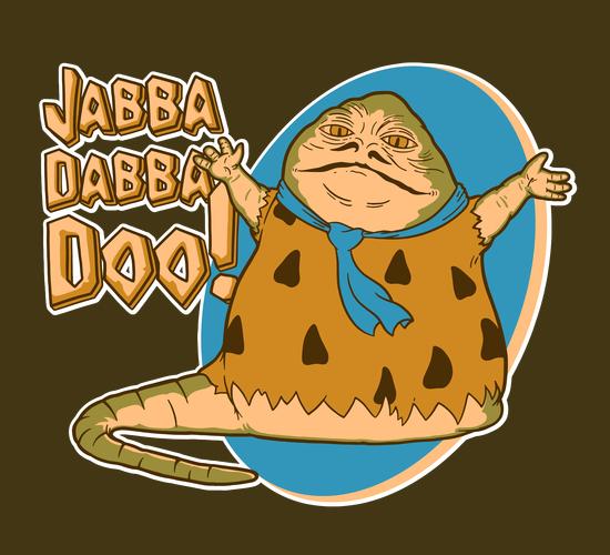 Jabba Dabba Doo Jabba the Hutt Fred Flintstone T-Shirt