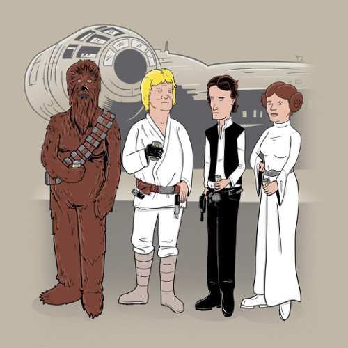 King of the Hill Star Wars T-Shirt