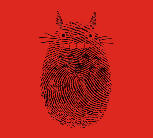 My Neighbor Totoro Fingerprint T-Shirt