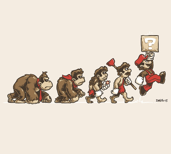 8-Bit Evolution Super Mario Donkey Kong T-Shirt