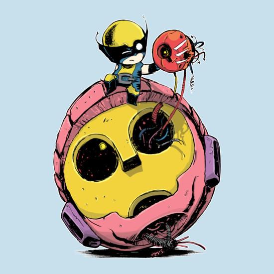 Baby Wolverine Sentinel Cute X-Men T-Shirt