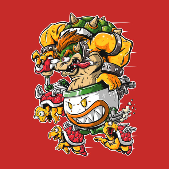 Bowser Rat Fink Super Mario Bros T-Shirt