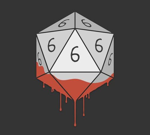 666 20-Sided Die Dice Devil T-Shirt