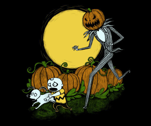 Great Pumpkin King Charlie Brown Nightmare Before Christmas T-Shirt