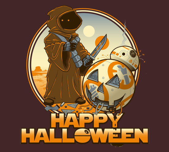 Happy Halloween Star Wars BB-8 Jawa T-Shirt
