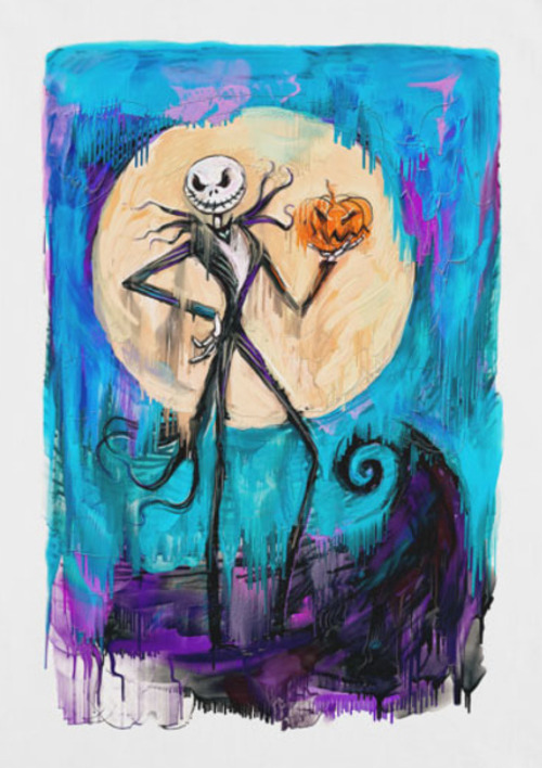 Jack Skellington Nightmare Before Christmas Painting T-Shirt
