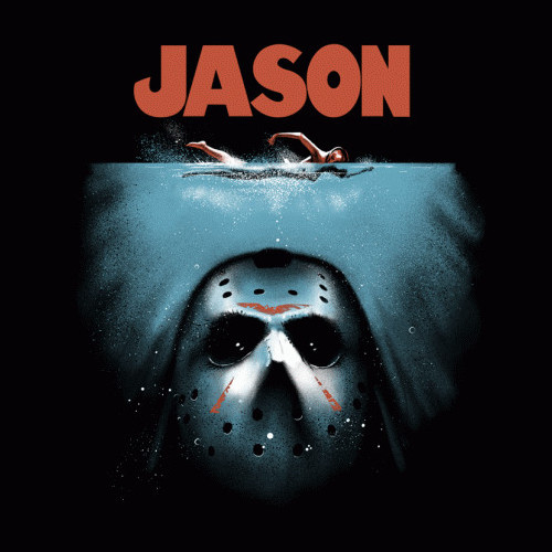 Jason Jaws Friday the 13th Shark T-Shirt