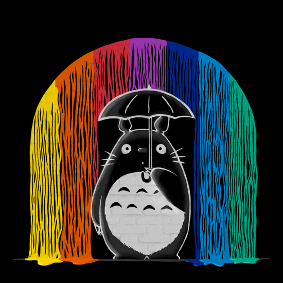 My Neighbor Totoro Rainbow Umbrella T-Shirt
