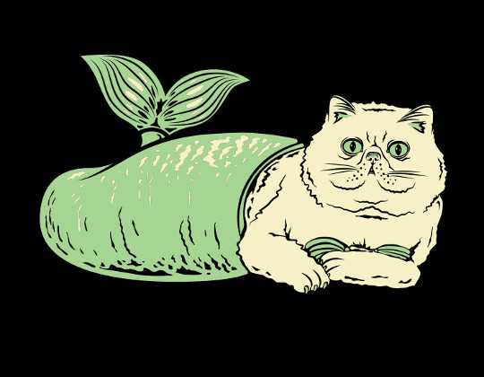 Purr-Maid Cat Mermaid T-Shirt