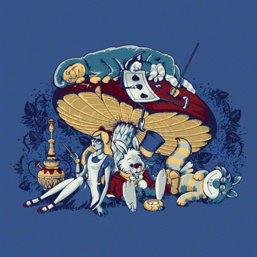 Stoned in Wonderland Alice T-Shirt