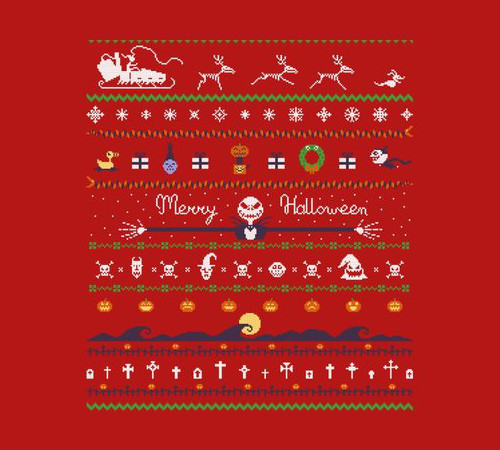 Nightmare Before Christmas Ugly Halloween Sweater T-Shirt