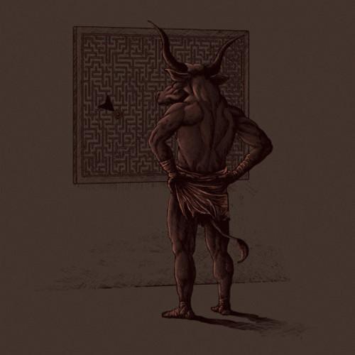 Minotaur Labyrinth Maze Directory T-Shirt