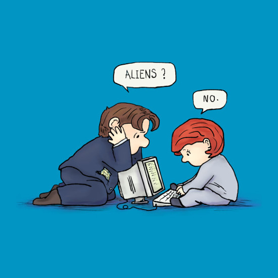 Aliens? X-Files Peanuts Mashup T-Shirt