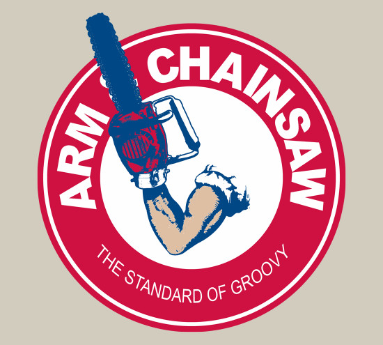 Arm and Chainsaw Evil Dead Army of Darkness Hammer T-Shirt