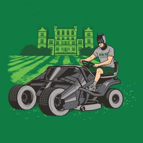 Batman Batmobile Lawnmower T-Shirt