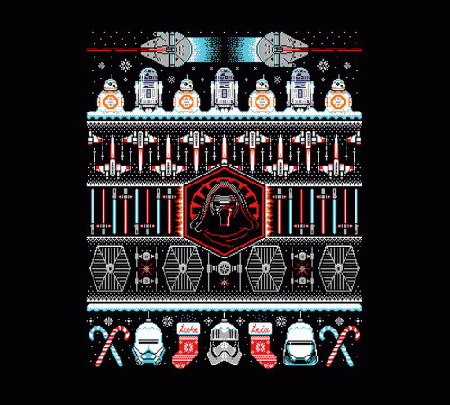 Star Wars The Force Awakens Ugly Christmas Sweater T-Shirt