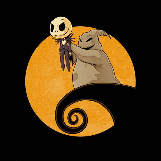 Halloween King Nightmare Before Christmas Lion King T-Shirt