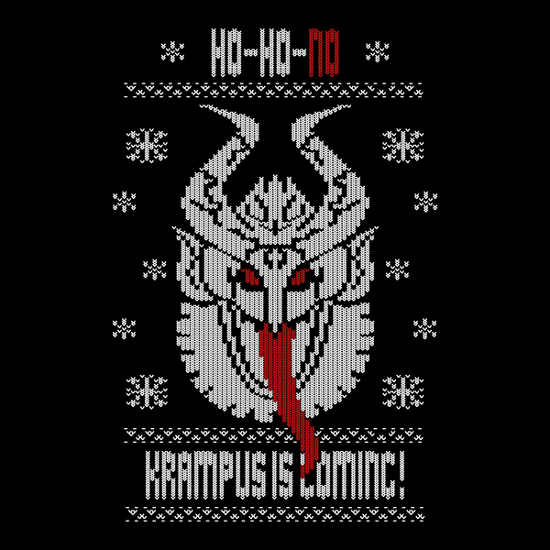 Krampus Is Coming Ugly Holiday Sweater T-Shirt