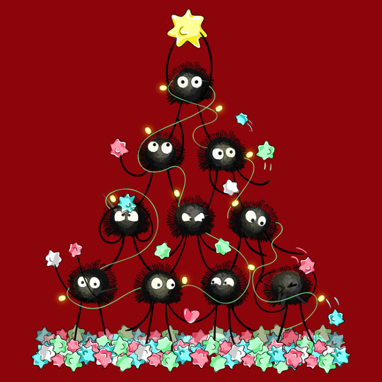 Soot Sprite Christmas Tree Spirited Away T-Shirt