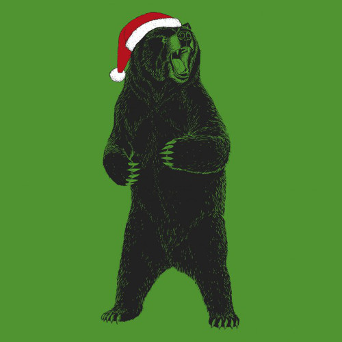 Santa Claws Christmas Bear T-Shirt