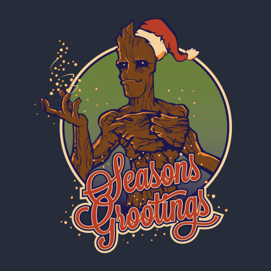 Seasons Grootings Guardians of the Galaxy Christmas T-Shirt