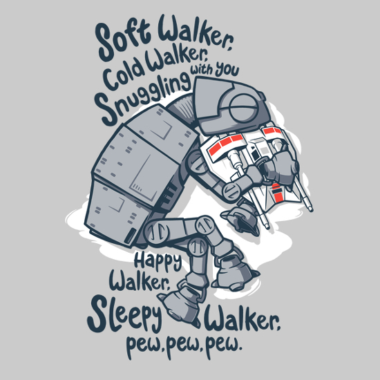 AT-AT Soft Kitty Star Wars Big Bang Theory T-Shirt