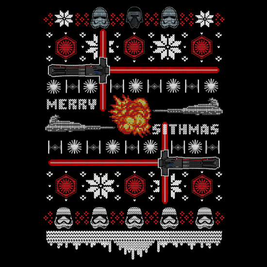 Merry Sithmas Star Wars Dark Side Christmas Sweater T-Shirt