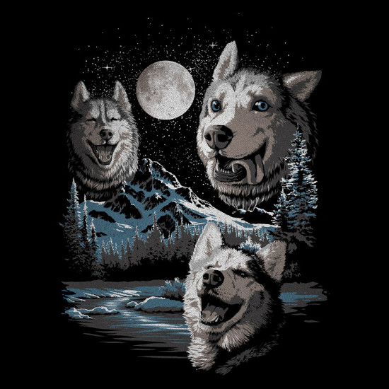 Three Derp Huskies T-Shirt