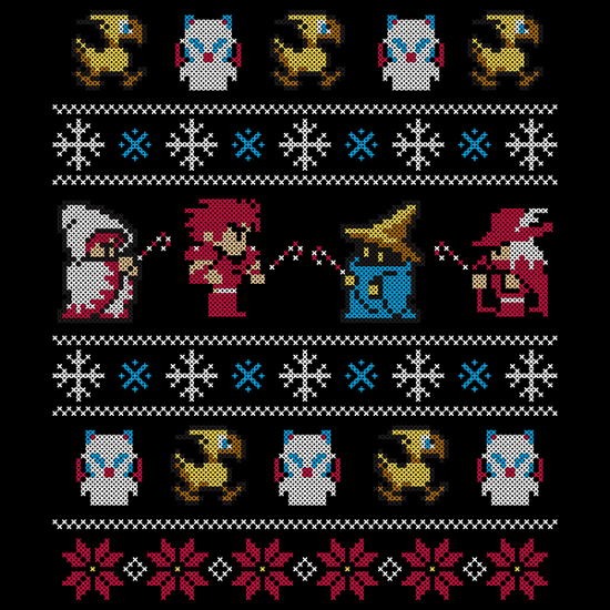 Final Fantasy Holiday Ugly Sweater T-Shirt
