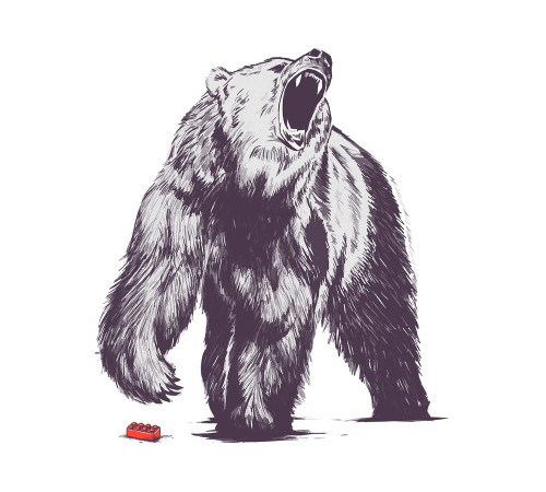 Bear Stepping on a Lego Block T-Shirt