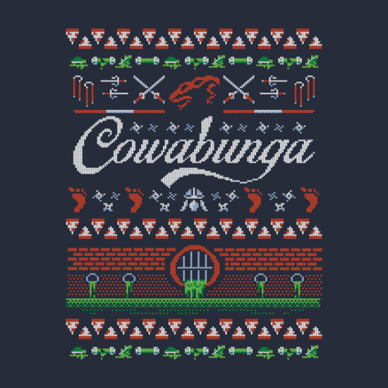 Cowabunga TMNT Christmas Sweater T-Shirt