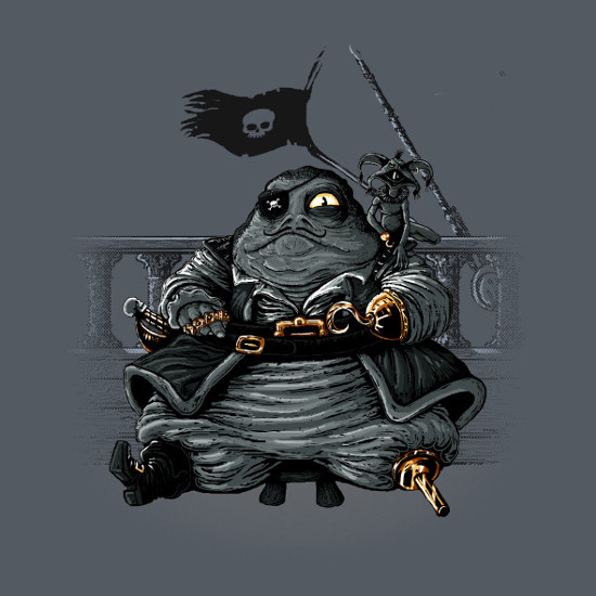 Jabba the Hutt Pirate Star Wars T-Shirt