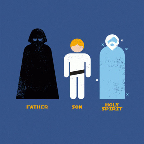 Father, Son, Holy Spirit Star Wars T-Shirt