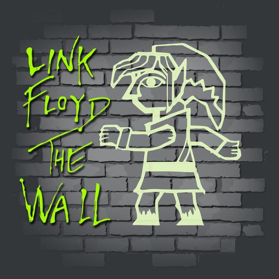 Link Floyd The Wall Legend of Zelda T-Shirt