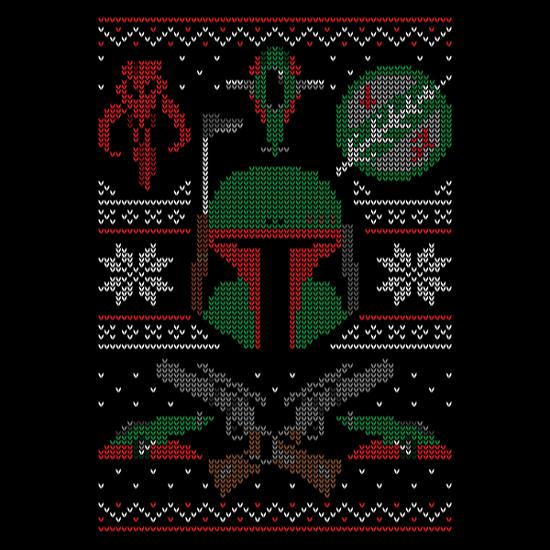 Boba Fett Star Wars Christmas Sweater T-Shirt