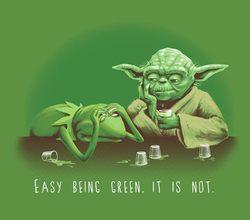 Easy Being Green It Is Not Kermit Yoda Star Wars T-Shirt