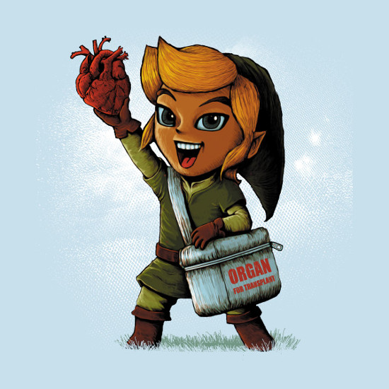 Link Heart Cooler Transplant Legend of Zelda T-Shirt