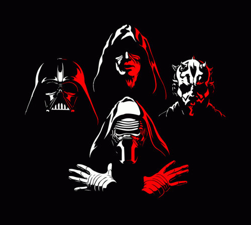 Star Wars Bohemian Rhapsody Darth Vader Maul Kylo Ren T-Shirt