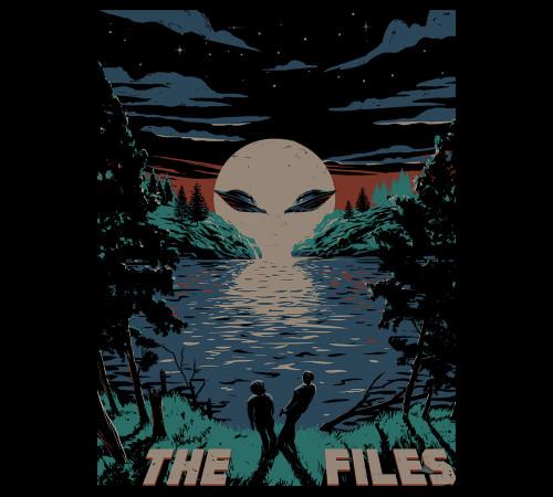 Eerie Sky X-Files Alien Sunset T-Shirt