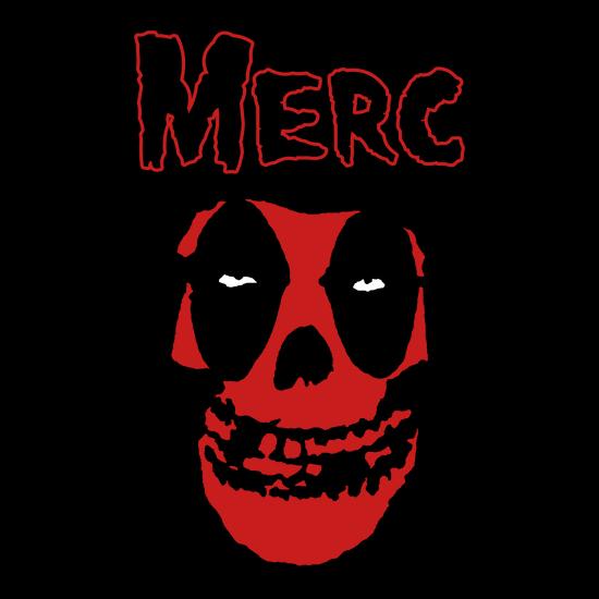 Deadpool Misfits Crimson Ghost Skull T-Shirt