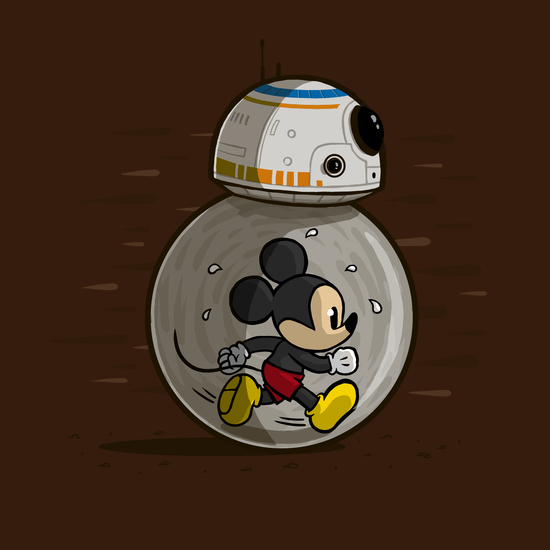 Mickey Mouse BB-8 Droid Disney Star Wars T-Shirt