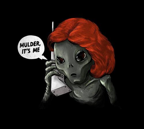 Mulder, It's Me! Dana Scully Alien X-Files T-Shirt