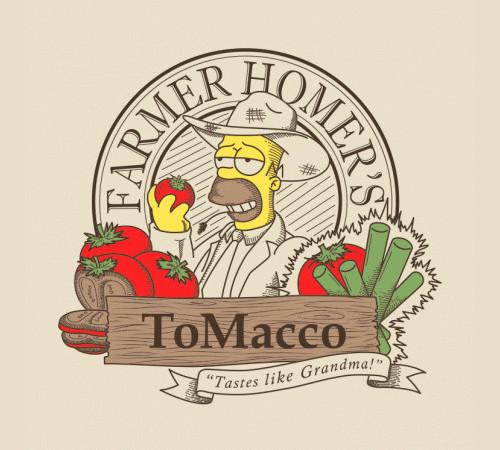 Farmer Homer's Tomacco The Simpsons T-Shirt