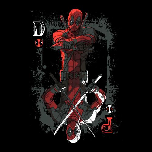 Deadpool Ace Card T-Shirt