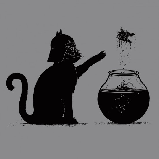 Darth Vader Cat Goldfish Choke Star Wars T-Shirt