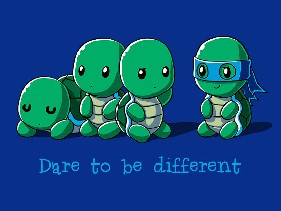 Dare to be Different Ninja Turtle T-Shirt